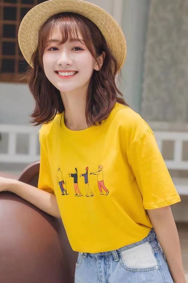 滴滴 T恤拍摄 短袖拍摄 白T拍照 印花T恤拍摄 韩版T恤拍照