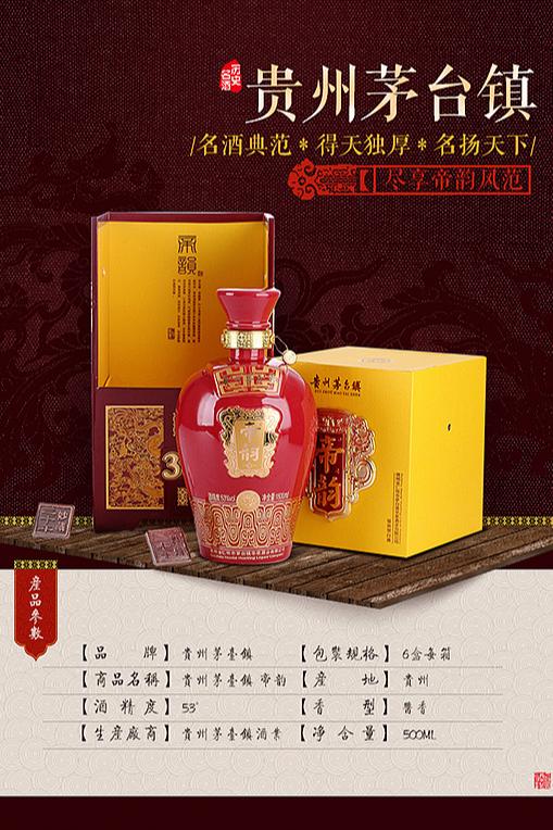 贵州茅台白酒详情页设计