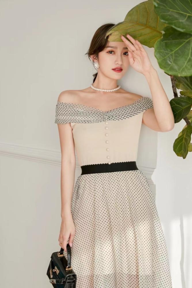 白甜 气质连衣裙拍摄