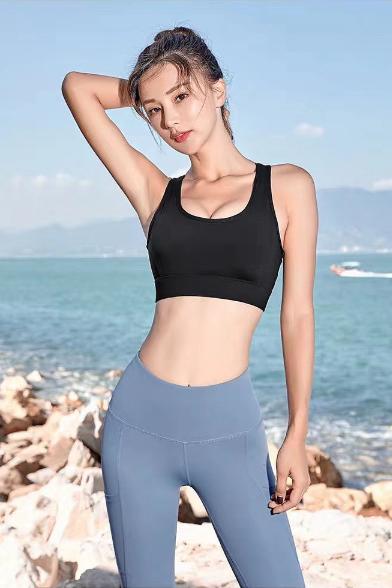 模特可御 海景健身服拍摄瑜伽服拍摄 模特拍摄